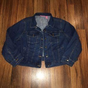 Women's plus jean jacket